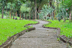Pathway in the park. Pathway in the green park Royalty Free Stock Photography