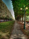 Pathway in a park in Paris Stock Images