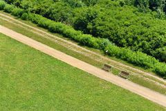 Pathway in the park, plan view Royalty Free Stock Photo