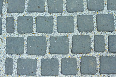 Pathway pattern of pave brick rectangular  background Royalty Free Stock Images