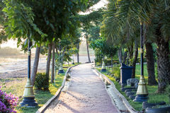 Pathway in a Peaceful Green Park Royalty Free Stock Image