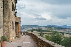 Pathway in Pienza, Italy Royalty Free Stock Photography