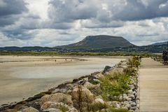 Pathway at the pier at Magherroarty Co. Donegal.  royalty free stock image