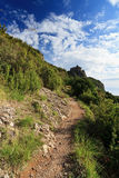 Pathway in Portofino mount, Italy Royalty Free Stock Photo