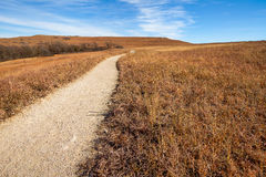 Pathway into the Prairie Royalty Free Stock Photos