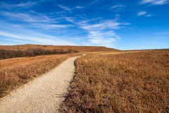 Pathway into the Prairie Stock Photos