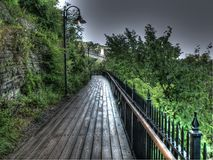 Pathway after rain Royalty Free Stock Images