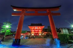 Pathway. The red pathway to temple in Japan Stock Photos