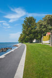 Pathway by the sea in Visby, Sweden. Pathway by the sea a sunny summer day in Visby, Sweden Royalty Free Stock Photo