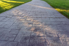 Pathway with sun rays Royalty Free Stock Photos
