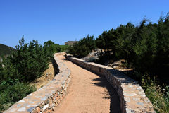 Pathway to ancient ruins. Royalty Free Stock Photos