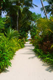 Pathway to bungalow Royalty Free Stock Photo