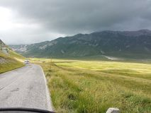 Pathway to Campo Imperatore Stock Photos