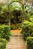 Pathway to the Gate in garden Royalty Free Stock Image
