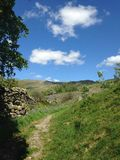 Pathway to heaven. Lakedistrict national park pathway in spring Royalty Free Stock Photography