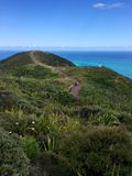 Pathway to lighthouse at Cape Reinga, Northland, New Zealand Royalty Free Stock Photography