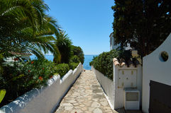 Pathway to the mediterranean Stock Photography