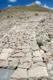 The pathway to Mount Nemrut, Turkey Royalty Free Stock Photos