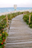 Pathway to the Ocean Stock Image