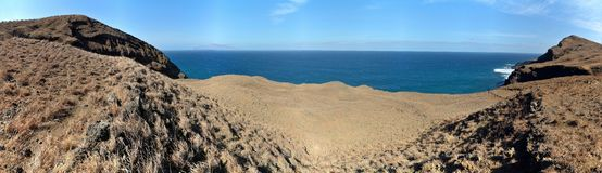 Pathway to ocean Stock Photo