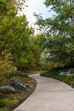 Pathway to peacefulness. Nice pathway in peaceful garden Royalty Free Stock Photos