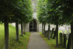 Pathway to Penallt Old Church Royalty Free Stock Photos