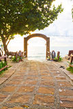 Pathway to the sea Royalty Free Stock Photography