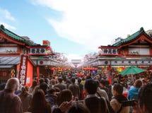 pathway to Sensoji temple Stock Photo