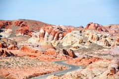 Pathway to the valley of fire state park Nevada Royalty Free Stock Photos