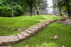 Pathway to view the waterfall Royalty Free Stock Photos