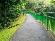 A Pathway Towards to the Forest Hill. A Pathway or Footpath Towards to Henderson Waves Bridge Singapore Royalty Free Stock Photography