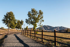Pathway with Trees and Mountain Range at Mountain Hawk Park Royalty Free Stock Image