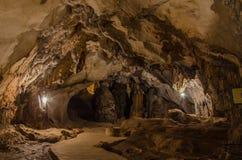 pathway underground cave in Laos Stock Photo