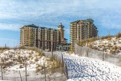 Pathway Up the Dune with Condo Stock Image