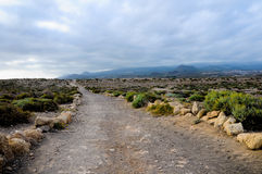 Pathway in the Volcanic Desert Royalty Free Stock Image