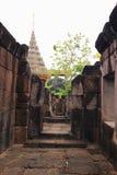 The pathway. At Wat sa kam phaeng yai castle stock image
