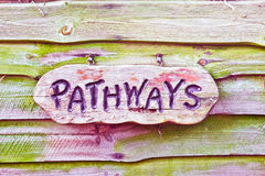 Pathways sign Stock Photo