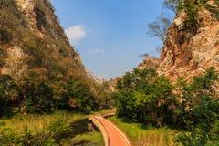 Pathways in Stone Park Kao-ngu, Ratchaburi Thailand. Royalty Free Stock Image