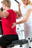 Patiënt bij de fysiotherapie Royalty-vrije Stock Foto's