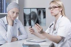 Patiënt en longkanker Royalty-vrije Stock Afbeelding