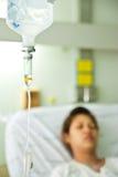 Patiënt in het ziekenhuis Stock Fotografie