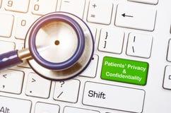 Patiënten` privacy en vertrouwelijkheidsconcept royalty-vrije stock foto's
