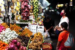 Night fruit market in Pati city, Central Java, Indonesia