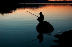 Patience. Fishing Royalty Free Stock Photos
