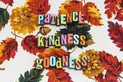 Patience kindness goodness stock photo