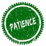 PATIENCE round grunge green stamp Royalty Free Stock Photo
