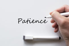 Patience written on whiteboard Royalty Free Stock Photos
