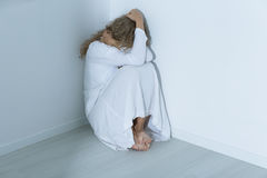 Patient with an anxiety disorder Stock Image