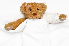 Patient in bed Stock Images