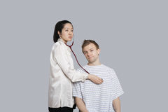 Patient being examined by the doctor Stock Images